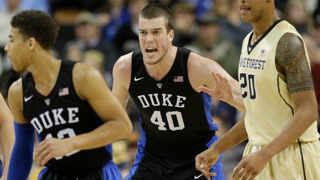 Christ School graduate Marshall Plumlee scored a career-high 18 points for the Duke basketball team on Wednesday night.