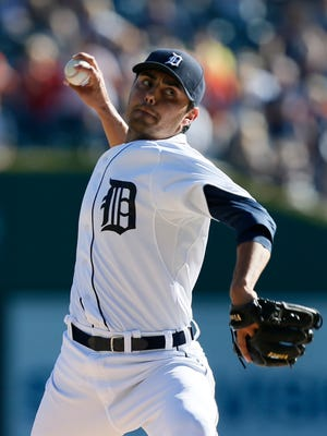 Detroit Tigers pitcher Joakim Soria throws against the Chicago White Sox on Sept. 24, 2014.