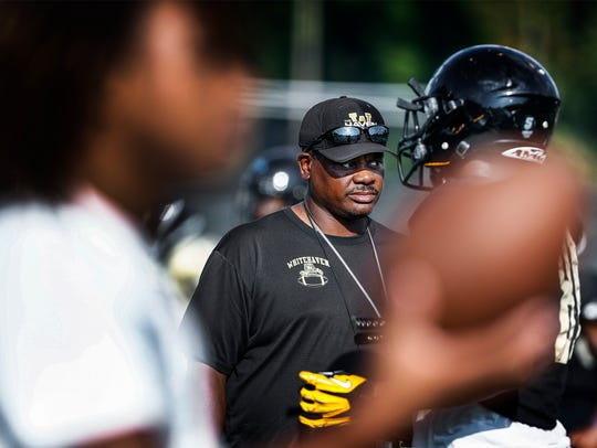 Whitehaven hard coach Rodney Saulsberry watches his