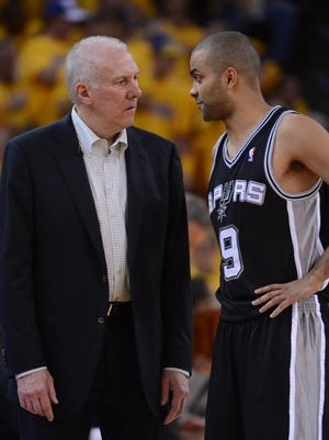 Spurs coach Gregg Popovich has a great but demanding relationship with point guard Tony Parker.