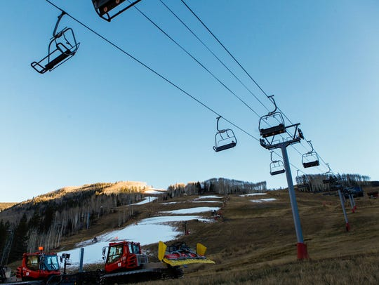 Ski operations sit on stand-by on Tuesday, Nov. 15,