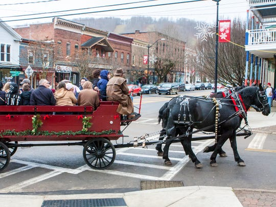"""Christmas in Ellicottville bills the downtown setting of its holiday celebration as """"a Norman Rockwell painting in the making."""""""