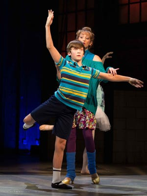 """Matthew Dean and Jenny Hintze in Phoenix Theatre's production of """"Billy Elliot the Musical."""""""