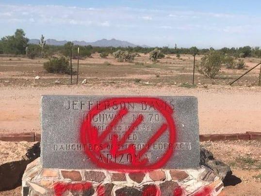 Jefferson Davis Highway vandalizsm