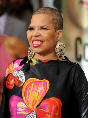 """Author Ntozake Shange attends the premiere of """"For Colored Girls"""" at Ziegfeld Theatre on October 25, 2010 in New York City."""