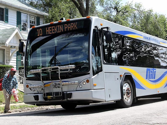 A passenger boards a MITS bus in this file photo.