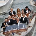 Guests arrive for George Clooney and Amal Alamuddin's wedding.