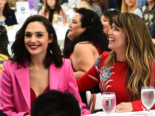 Best friends and colleagues. Gal Gadot and Patty Jenkins cheer on their colleagues.