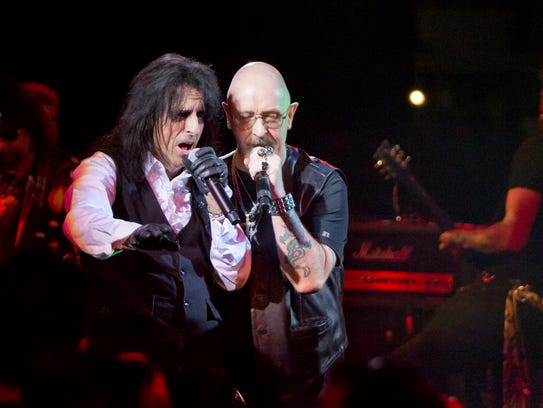 Alice Cooper and Judas Priest's Rob Halford perform
