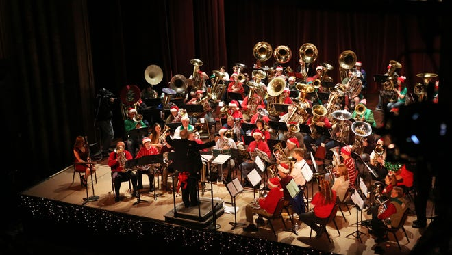 Listen to the rich brass sound of tubas and more at Tuba Holiday at noon Dec. 24 at the Historic Elsinore Theatre.