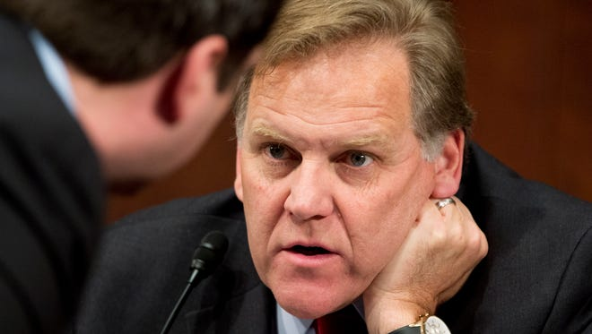House Intelligence Committee Chairman Rep. Mike Rogers, R-Mich., during a committee hearing on Capitol Hill in Washington on  April 2.