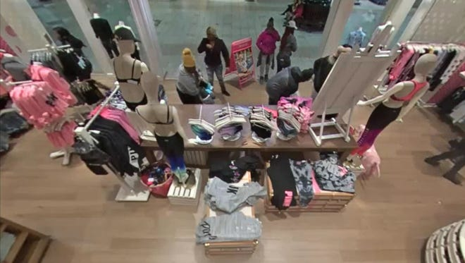 Police are asking for the public's help in seeking eight thieves who stole $6,000 worth of merchandise from Muncie Mall's Victoria's Secret.