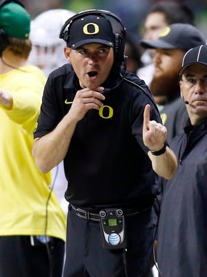 Oregon coach Mark Helfrich was on the tough end of one of bowl season's craziest matchups.