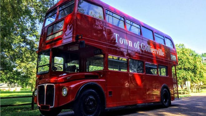 The Town of Collierville's new double decker bus will serve as a mobile visitor center and will be stationed at special town events.