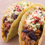 Filled tacos.