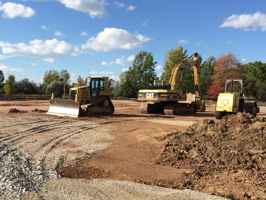 Construction site in Greenville on Mayflower Drive.