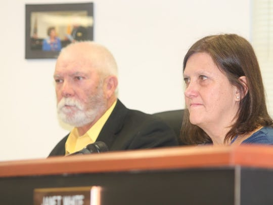 Commissioners Ronny Rardin and Susan Flores expressed