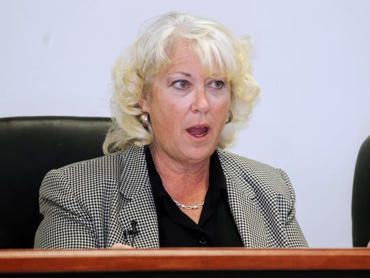 In this file photo, Otero County Attorney Lisa Jenkins explains the process of obtaining Hold Harmless gross receipt tax revenue bonds at the March 9 regular Otero County Commission meeting.
