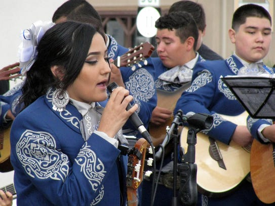 Mariachi music continued to be a big draw during the
