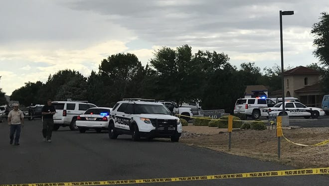 Officials said the man was shot in a parking lot in the 400 block of Palomino Road in Chino Valley just after 2:30 p.m. Friday.