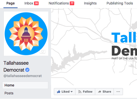 The Tallahassee Democrat Facebook page on desktop or