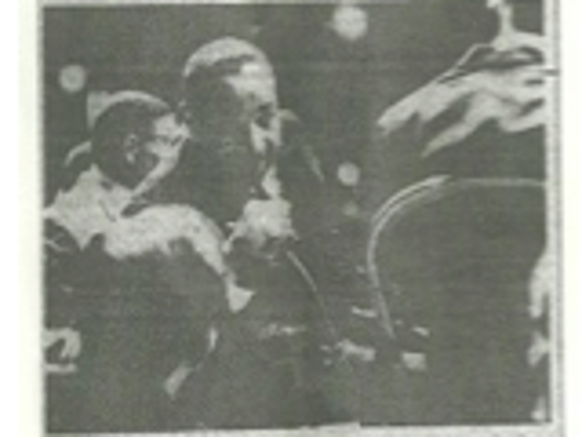 King in Rochester in 1962 at the War Memorial