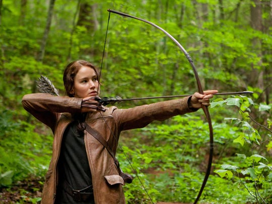 Jennifer Lawrence portrays Katniss Everdeen in 'The