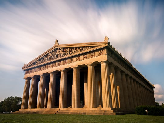 The Parthenon in Nashville, Tenn., Tuesday, Aug. 8,
