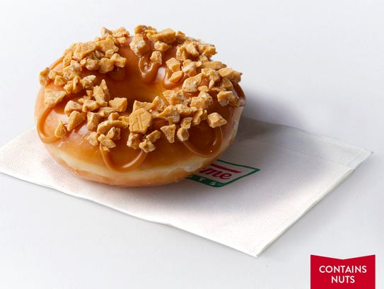 The Krispy Kreme Hershey's Gold Doughnut.