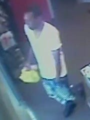 Another view of a man wanted for shoplifting at the