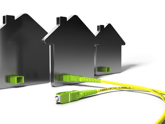 FTTH, Fiber To The Home 3D Illustration