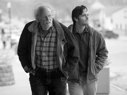 Bruce Dern, left, and Will Forte star as father and son in 'Nebraska.'
