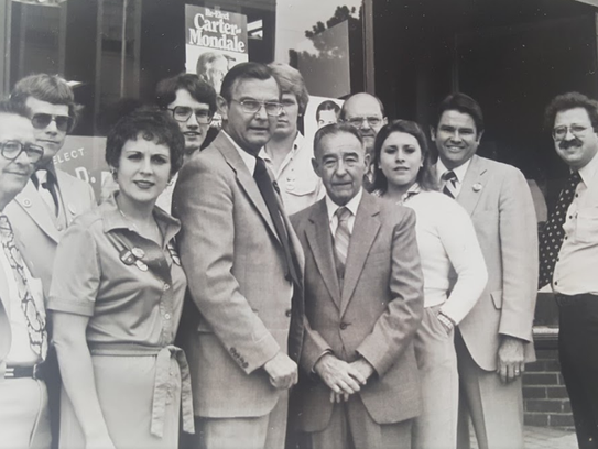 Cathy Myers, on the right, and others in this photo