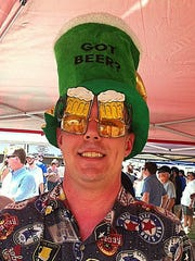 A craft beer taster came dressed for the part at the