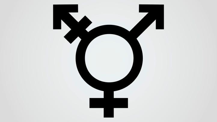 Vector icon of transgender symbol combining gender