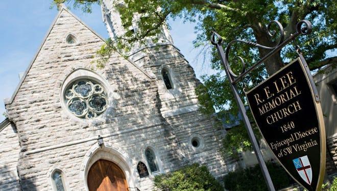 The R. E. Lee Memorial Episcopal Church in Lexington, Virginia.
