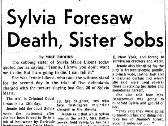 Sylvia Foresaw Death, Sister Sobs