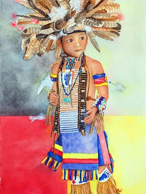 "Indigenous dancer ""Little Bear"" by Padi Fiolkoski."