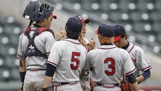 Keio defeats Briarcliff 2-0 in the Class B sectional baseball game at Palisades Credit Union Park in Pomona on Saturday, May 28, 2016. Keio won 2-0.