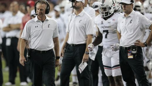 Tommy Tuberville and the University of Cincinnati football team are looking to snap a long drought versus Big Ten teams on the road.