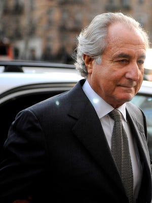 File photo shows Bernard Madoff arriving for a Manhattan Federal court hearing in New York City in March 2009.