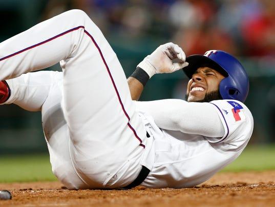 USP MLB: LOS ANGELES ANGELS AT TEXAS RANGERS S BBA TEX LAA USA TX