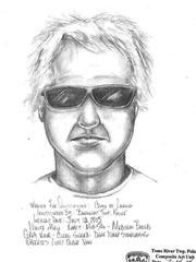 Barnegat police shared a sketch of the luring suspect.