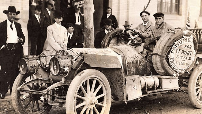 The most famous car of its day, the winner of the New York to Paris Great Race in 1908, came through Abilene in 1909.