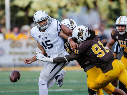NCAA Football: Nevada at Wyoming