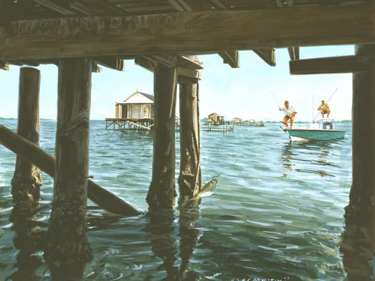 Paintings by Martin Gembecki and Brad Phares  are on display at the Community Foundation of Southwest Florida.