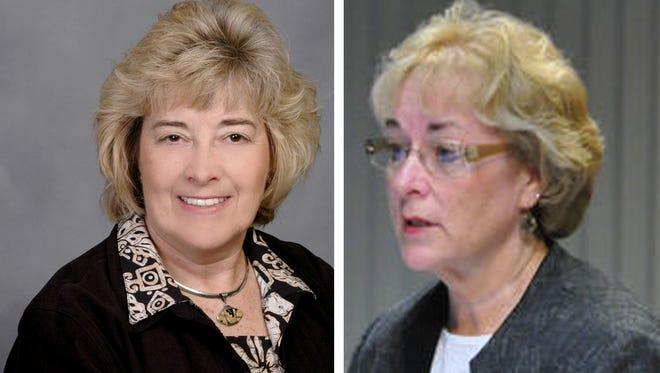 Judy Preston, left, Associate Superintendent of Financial Services, Brevard Public Schools; and Cyndi Van Meter, who oversees curriculum and instruction