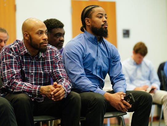 Christian Butler (left) and Kashif Handy (right), both