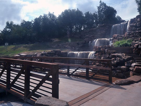 The new, wider, stronger steel and concrete bridge at the Wichita Falls waterfalls is complete and reopened to the trail. A variety of improvements were included in the project which approached $400,000.