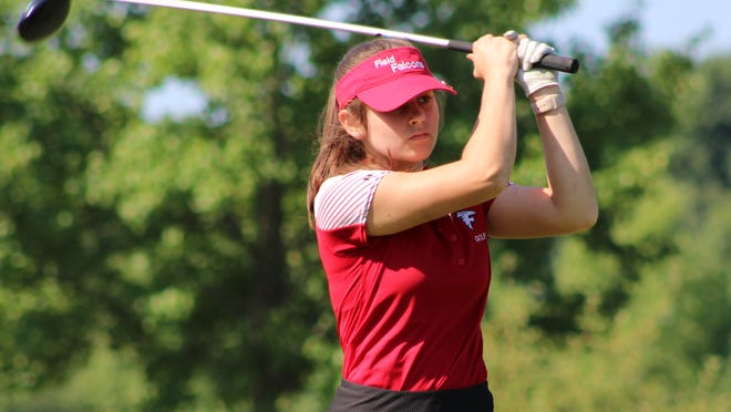 Brooke Repasky competes for the Field girls golf team at the Metro Athletic Conference Preseason tournament on Friday.